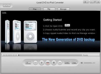iLead DVD to iPod Converter