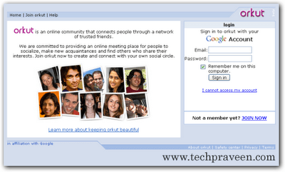 Open Orkut Accounts Simultaneously in Two Tabs - Firefox
