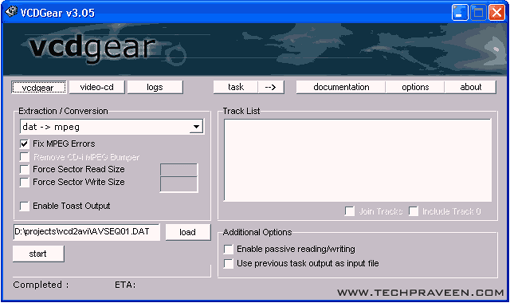 Download VCDGear v3.56 Beta