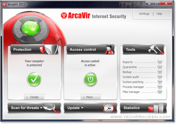 AcraVir 2011 Internet Security Screenshot