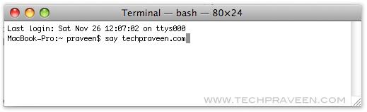 Mac Terminal Speaking