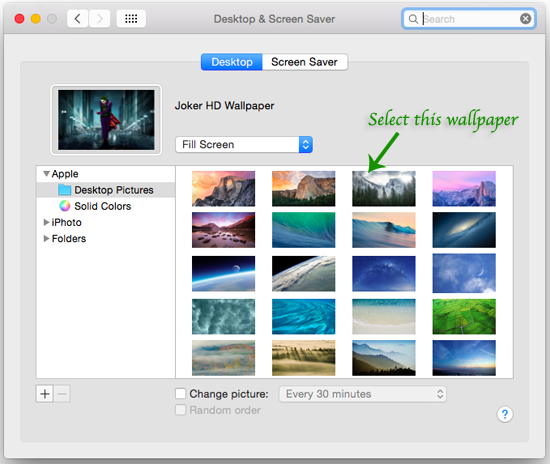 Mac Yosemite Desktop and Screensaver