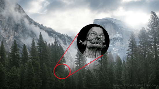 Mountain Tree Spirits - Mac Yosemite Easter Egg