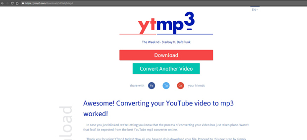 YouTube Video to Mp3 File