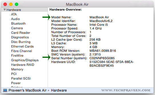 Mac Details in System Information