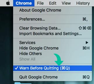 Warn Before Quitting Google Chrome