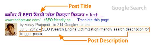 Search Description for blog post