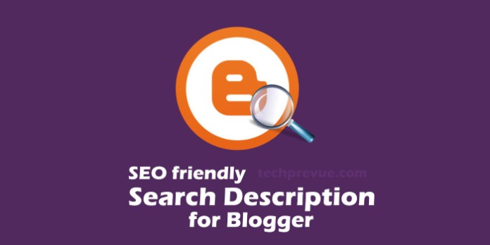 Tips to Add Search Description for your blog post