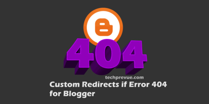 Custom Redirects for Error 404 Pages