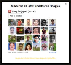 Google+ Add to Circle Popup Widget - DARK