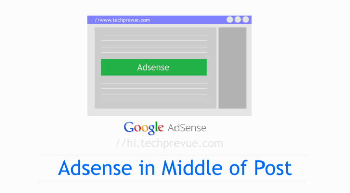 Put AdSense Inside Blogger Post