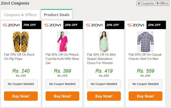 Zovi product deals
