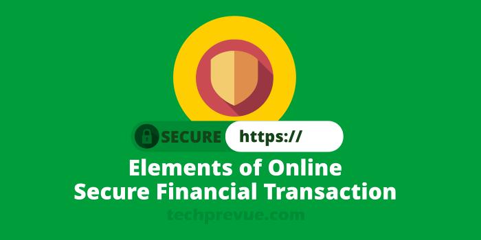 Secure financial transaction online
