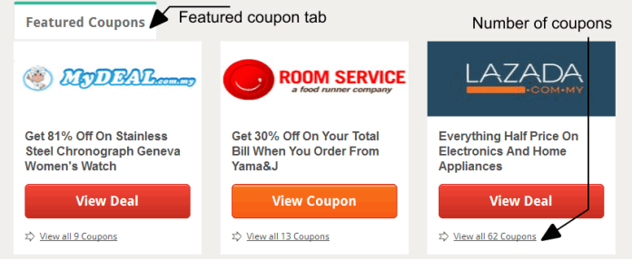 Couponbelanja.com - Featured coupons and number of coupons