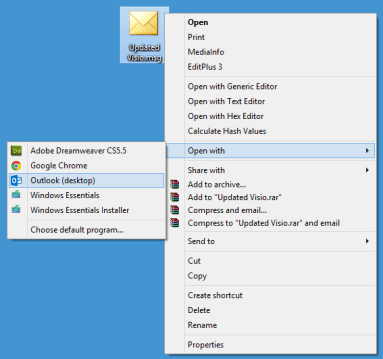 Open outlook email client