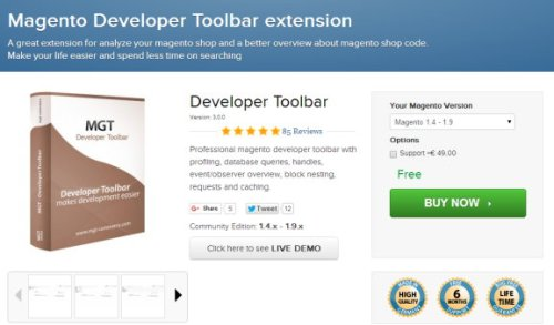Magento Developer Toolbar