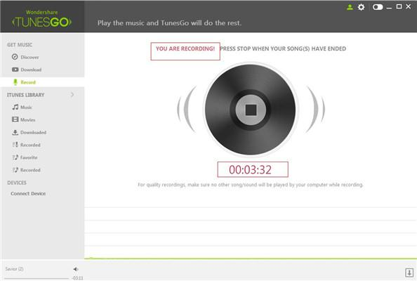 Record Streaming Music