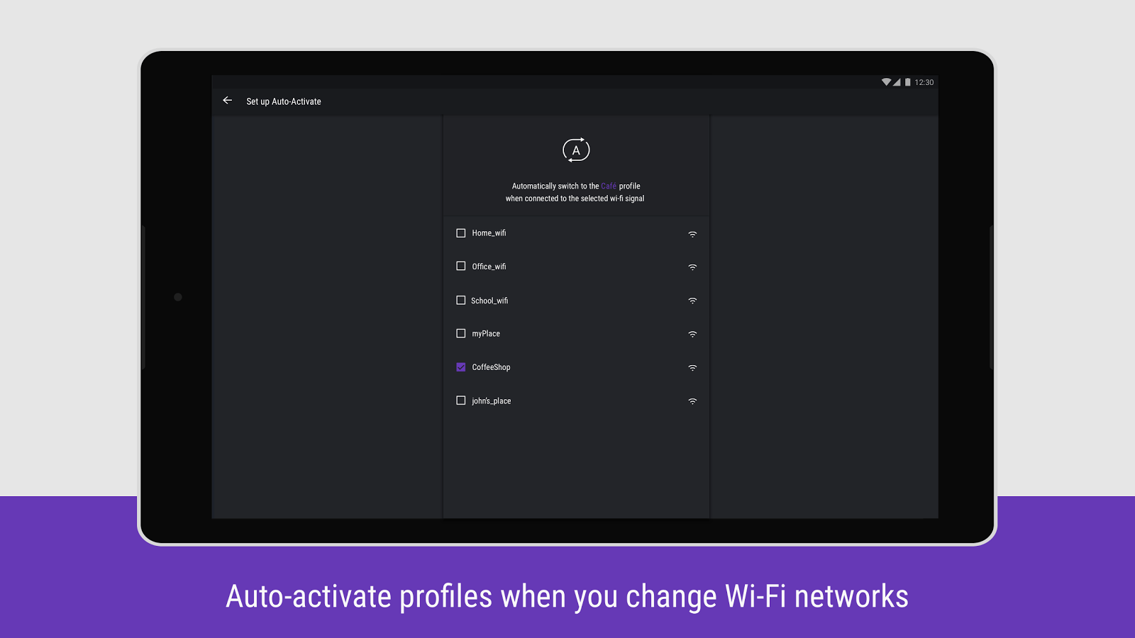 Hexlock Auto Activate Profiles