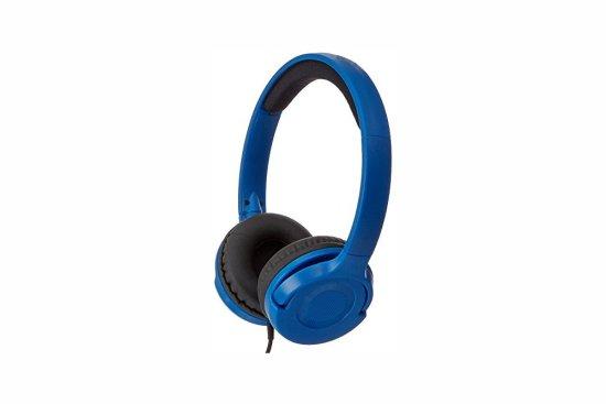 Lightweight on ear headphones blue