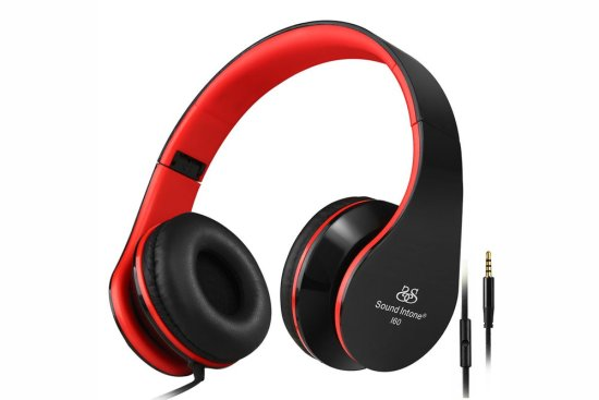 Sound intone i60 stereo headsets-headphones-microphone phone iphone 6 6s pc computers foldable