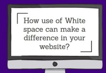How use of Whitespace can make a difference in your website