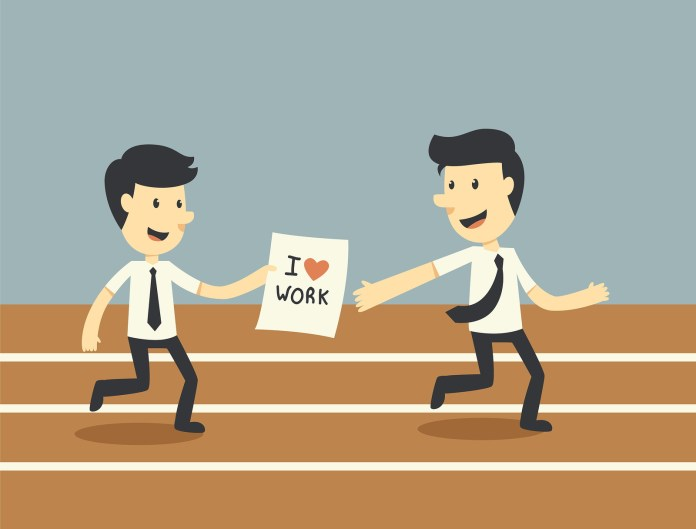Teamwork Concept I love work