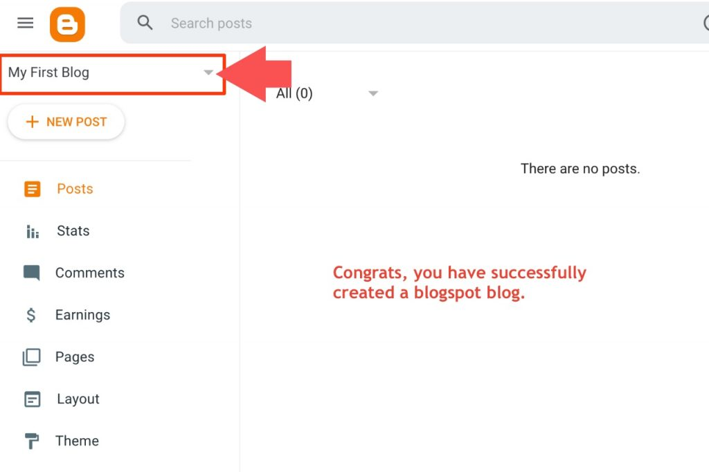 Congrats, your blogspot blog is ready