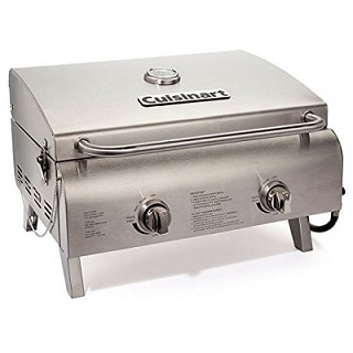 Professional tabletop gas grill a perfect camping gear