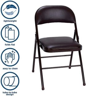 most comfortable small folding chair