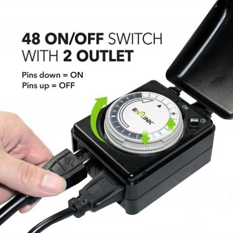 compact outdoor pool timer