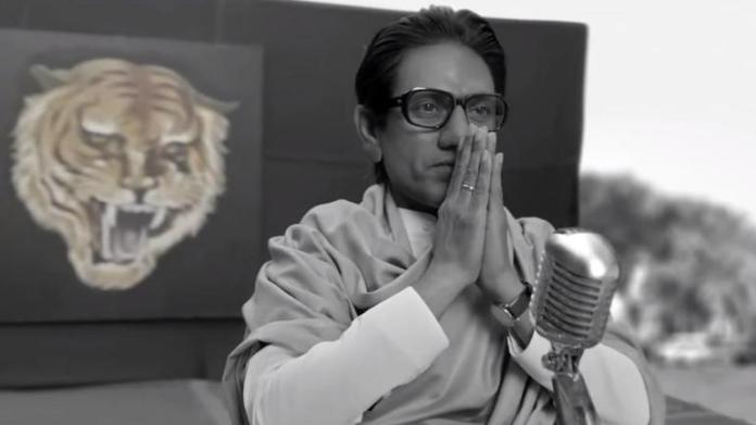 Nawazuddin Siddiqui in the film Thackeray, similar to The Accidental Prime Minister