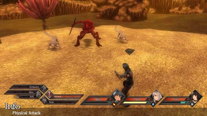 A Battle Screen from Legrand Legacy
