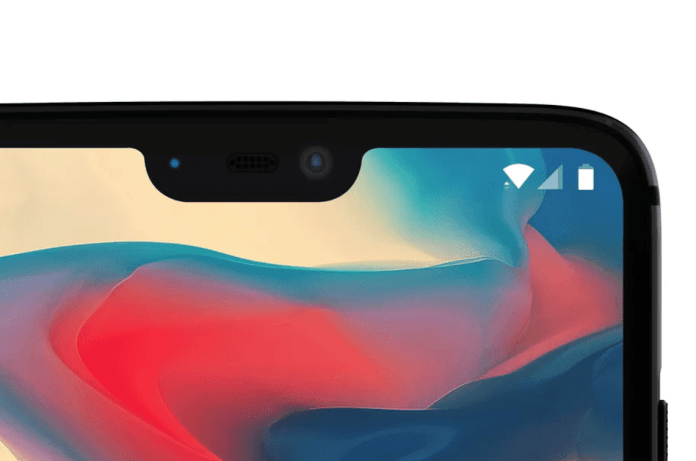 The Notch on the OnePlus 6
