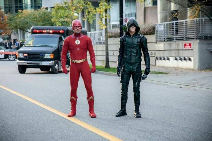 The CW's Elseworlds, ft. swapped Arrow & The Flash