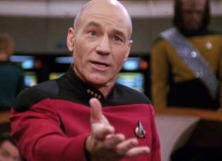 Patrick Stewart as Picard in Star Trek