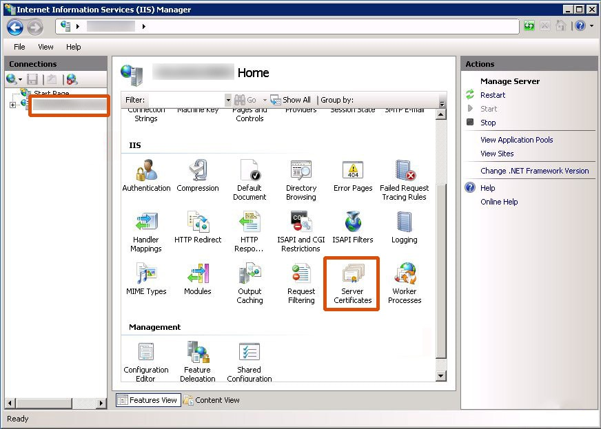 Install SSL on IIS 7