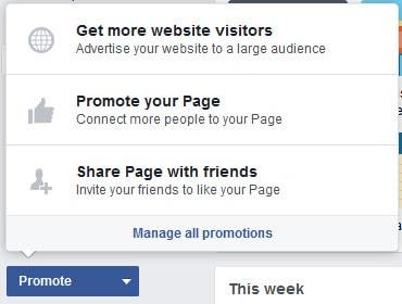 Promote on FB ads