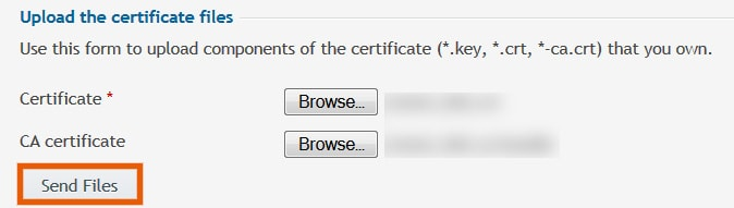 Upload SSL in Plesk
