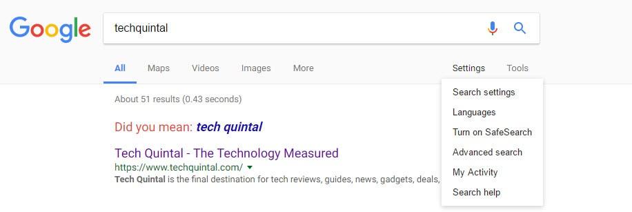 Google Search Engine Configuration