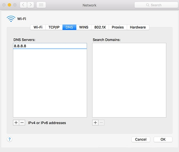 Add or Remove DNS Servers on Mac
