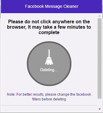Facebook Message Cleaner