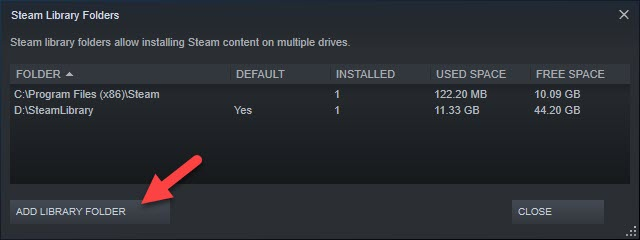 Add Library Folder Steam
