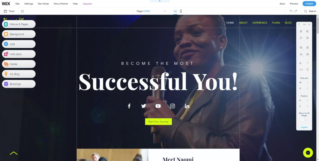 Wix Page Builder