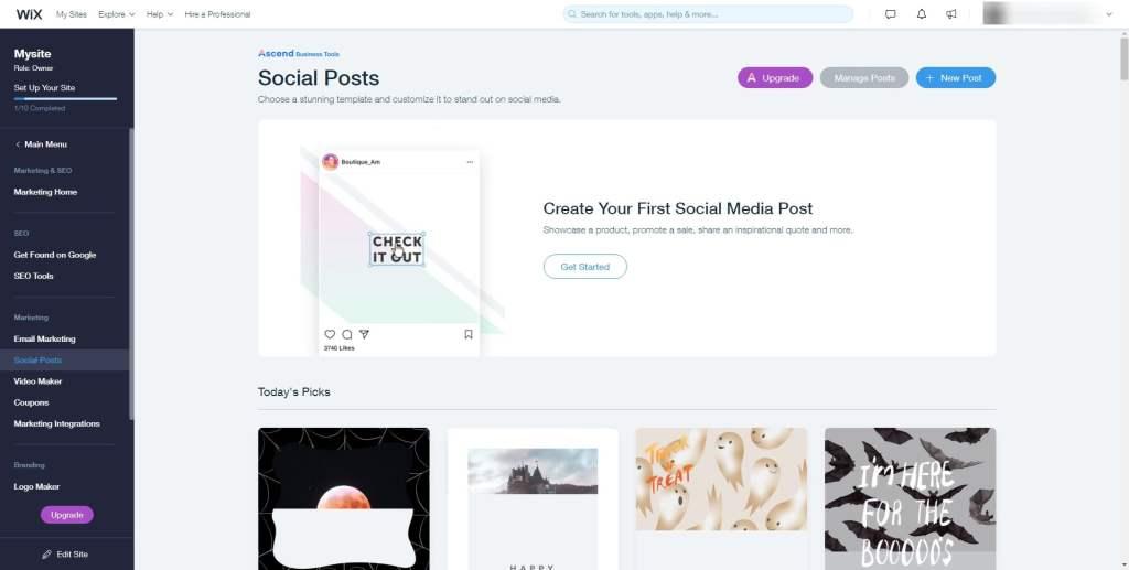 Wix Social Posts