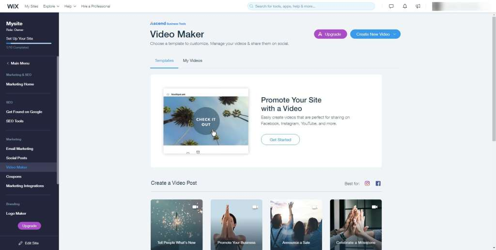 Wix Video Maker