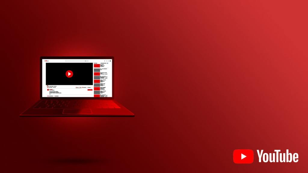 Image of a Laptop Playing YouTube Video