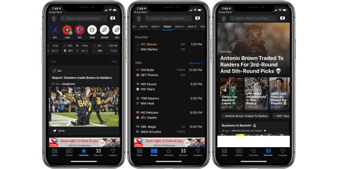 TheScore best Sports iPhone App