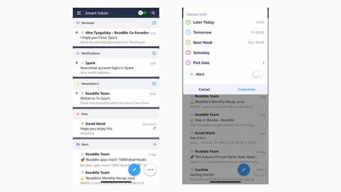 Spark Mail vs Inbox by Gmail
