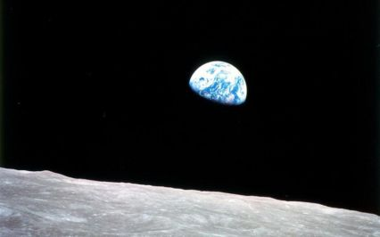 Earth viewed from orbit on Apollo 8 - by William Anders, NASA