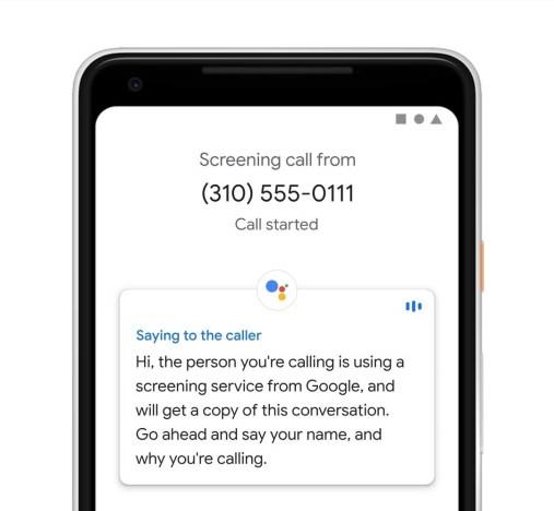 pixel 3 call screen assistant